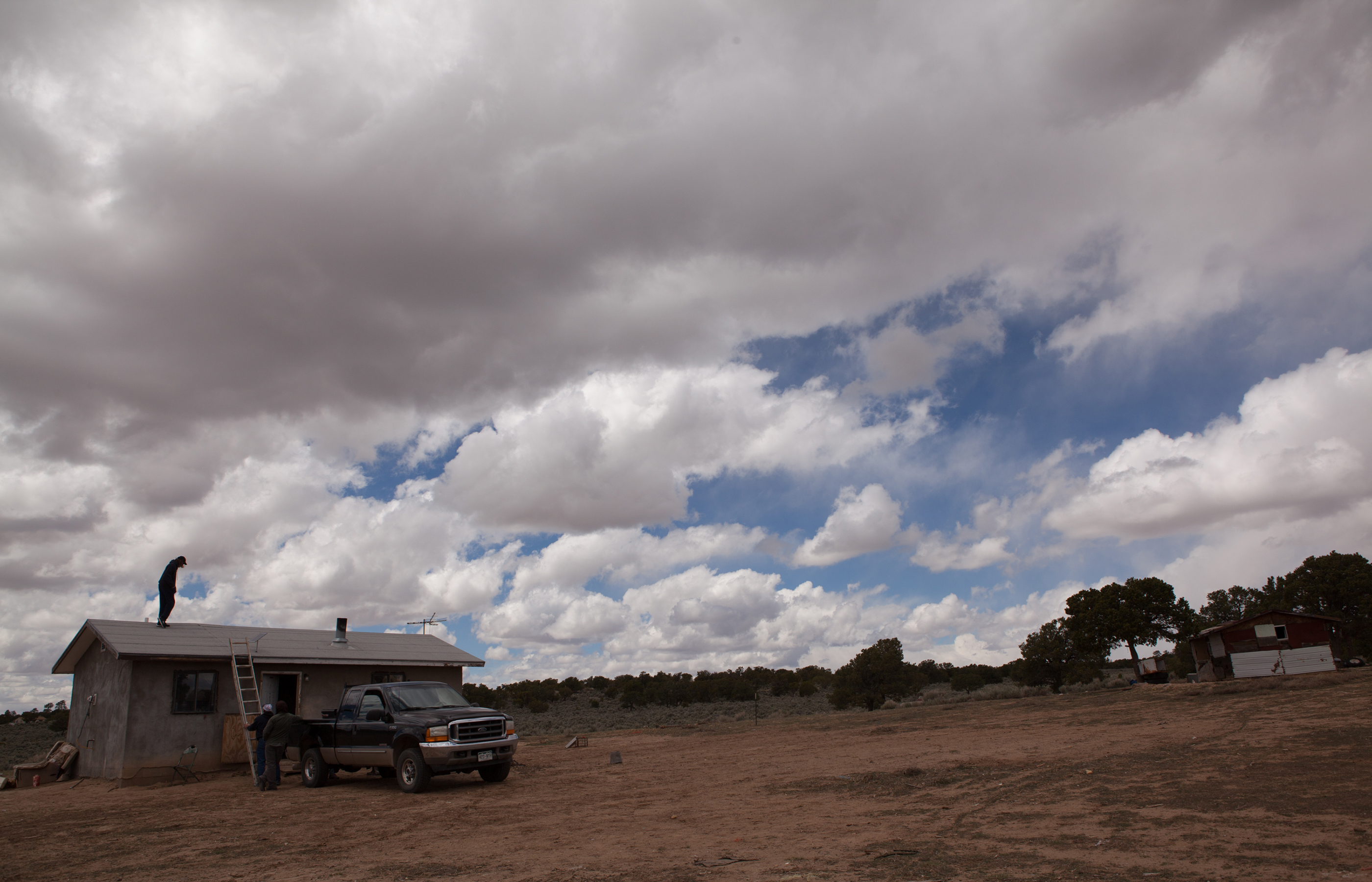 The vast landscape on the Navajo reservation